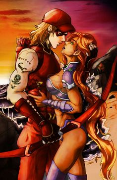 Roy and Kory/Starfire ~ I love this couple! <3 They are absolutely adorable together! ^_^