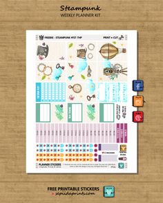 Free Printable Steampunk Planner Stickers From Sepiida Prints
