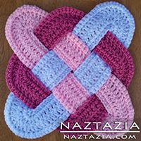 Crochet Celtic Weave Potholder Hotpad - Pot holder / Hot Pad Crocheted by Donna Wolfe from Naztazia