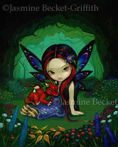 Dragon Fairy Pictures:  Dragonling Garden I by Jasmine Becket-Griffith