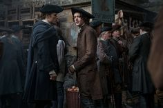 Sam Heughan and César Domboy in Outlander (2014)