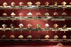 Tiffany Window Display - Resin Cast Ice Cream Cones