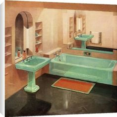 1950 39 s on pinterest 1950s 1950s bedroom and 1950s bathroom for Bathroom 1950 style