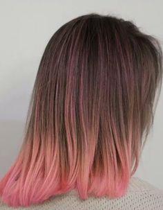 pink pastel tips