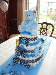 My first baby boy diaper cake