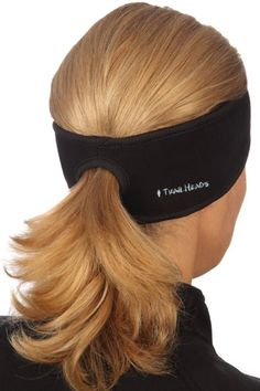 Amazon.com: TrailHeads Goodbye Girl Ponytail Headband - black/ black: Sports & Outdoors