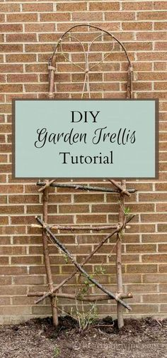 Learn how easy it is to make a garden trellis by using extra branches and twigs from your own backyard, and a spool of twine.