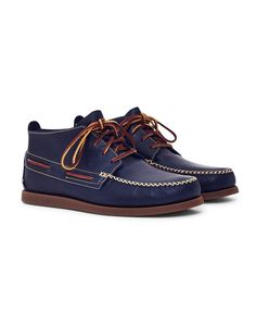 the latest 85850 5006f Sperry A O Wedge Leather Chukka Boot in Navy   SHOP NOW at The Idle