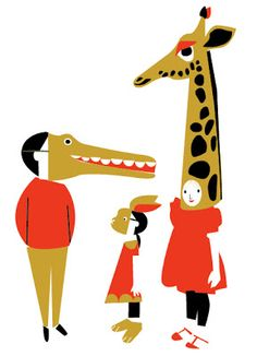 Rhona Garvin: Three characters for a picture book (work in progr. Art And Illustration, Illustrations And Posters, Character Illustration, You Draw, Grafik Design, Art Design, Cover Art, Wolf, Comic