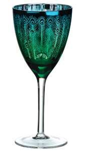 Gorgeous peacock goblet