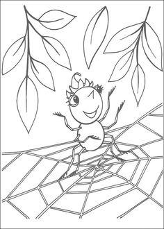 Dibujos Para Colorear Miss Spider 13