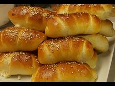 Beignets, Kiflice Recipe, Appetizer Recipes, Appetizers, Bread Recipes, Cooking Recipes, Serbian Recipes, Cheese Rolling, Bread And Pastries