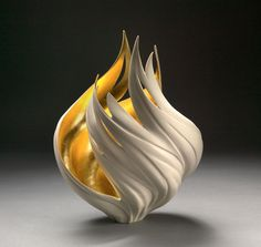 Make something like this in ceramics class...gold leaf interior !