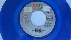 DAVID BOWIE  Blue Jean / Dancing With Big Boys (Rock 45 Vinyl Blue) EMI, 1984 #ModPopRock