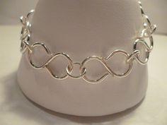 Infinity Chain Bracelet Figure 8 links Argentium 930 Silver. $36.00, via Etsy.