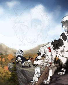 Gotcha by Hlaorith on DeviantArt Fantasy Wolf, Fantasy Beasts, Fantasy Creatures, Mythical Creatures, Cartoon Dog Drawing, Art Wolfe, Wolf Comics, Beautiful Dark Art, Anime Animals