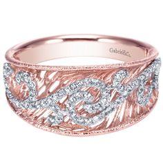 Gabriel & Co. 14K White Gold and Rose Gold .25 CTW Diamond Ring #diamonds #ring #rosegoldring