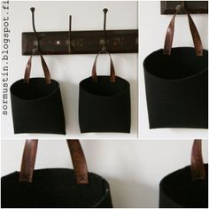 Bags made of old belt and thick felt