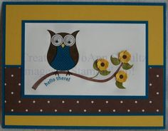 Cheep Talk Owl by jreks - Cards and Paper Crafts at Splitcoaststampers