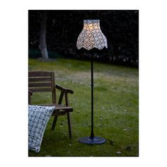 IKEA SOLVINDEN LED solar-powered floor lamp Easy to use because no cables or plugs are needed.