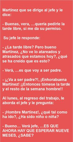 Martinez que se dirige al jefe y le dice … | AldeaViral Pinterest Memes, I Laughed, Funny Quotes, Funny Pictures, Hilarious, Jokes, Lol, Humor In Spanish, Funny Humor Quotes