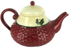 Christmas Traditions Holiday Ceramic Teapot by Russ Berrie >>> Continue to the product at the image link.Note:It is affiliate link to Amazon.