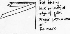 Double-fold Step 2Fool proof binding by Sarah Ann Smith