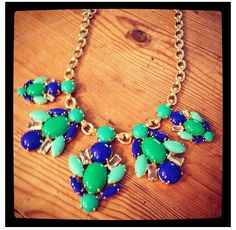 """New for summer: the """"Juniper statement necklace"""" by Stella & Dot. Available to purchase at www.stelladot.com/sites/Stephaniehealey"""
