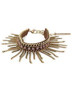 BCBGeneration Bracelet, Gold-Tone Pink Stone Chain Fringe Bracelet - Fashion Jewelry - Jewelry & Watches - Macy's