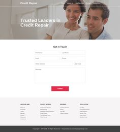 Credit Repair Website Template To Create Your Website Credit - Credit repair website template