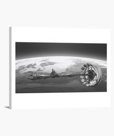 Lienzo Orbitando la Tierra Lienzo en bastidor, horizontal 4:3  39,95 € - ¡Envío gratis a partir de 3 artículos!