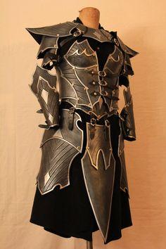 steampunk inspired armor battle knight