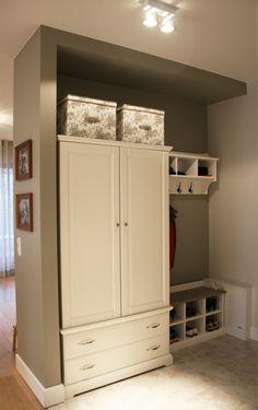 hallway , closet , retro, white