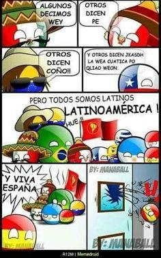 Yo soy venezolana, pero ojo es cierto que españa no es de latinoamerica :3