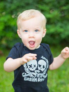 Kiditude - Green Day Baby Bodysuit, modeled by Jake