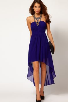 2013 Prom Dresses A Line Chiffon Halter Chiffon Beading & Sequins Asymmetrical Sleeveless USD 131.99 STPQGFKXKR - StylishPromDress.com