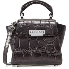 ZAC Zac Posen Croc Embossed Mini Cross Body Bag ($295) ❤ liked on Polyvore featuring bags, handbags and shoulder bags