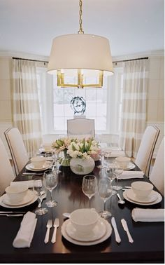 Bright, neutral dining