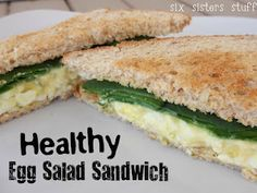 Healthy Egg Salad Sandwich! You can't even tell it is Healthy!