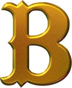 IMÁGENES DE LETRAS DORADAS PARA IMPRIMIR Cool Alphabet Letters, Alphabet Design, Alphabet For Kids, Monogram Alphabet, Gold Letters, Letter B, Alphabet And Numbers, Monogram Letters, Alphabet Templates