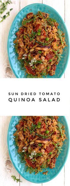 Healthy Sun Dried Tomato Quinoa Salad Recipe | CiaoFlorentina.com @CiaoFlorentina
