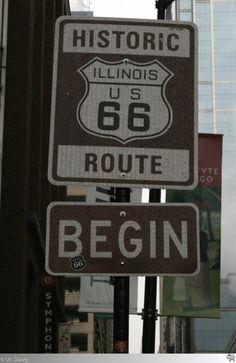 Hier beginnt die wohl berühmteste Straße der Vereinigten Staaten von Amerika: Die legendäre Route 66. Das Schild an der Ecke Jackson Boulevard / Michigan Avenue ist der Beginn einer wunderschönen Reise über 2.448 Meilen (3.939,67 Kilometer)quer durch die USA. Einen Tag nachdem ich das Schild aufgenommen habe, am 15. September 2011 sollte diese Reise beginnen...
