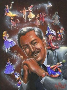 Walt Disney with characters :)