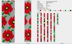 18 around tubular bead crochet rope pattern Bead Crochet Patterns, Beading Patterns Free, Bead Crochet Rope, Beaded Jewelry Patterns, Crochet Poppy, Loom Bracelet Patterns, Crochet Beaded Bracelets, Loom Beading, Bead Art