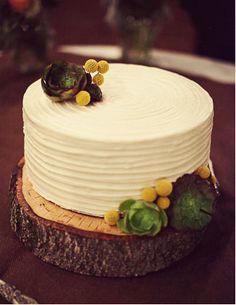 cake stand, simple icing megan's wedding