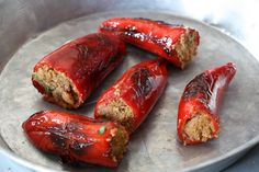 Chili, Sausage, Stuffed Peppers, Meat, Recipes, Oven, Chile, Sausages, Stuffed Pepper