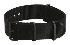 18mm Premium PVD Black – Nylon Nato Ballistic Military Watch Band Strap G-10 Fit's All!! | Pebble Watch Bands