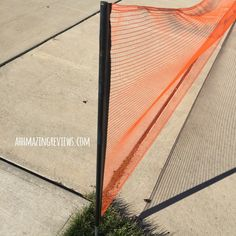 "@AhhMazingRvws ""Storage is simple, since the netting all retracts and stores nicely within itself.  There are even two black caps that come with this to be placed on top of the stakes in the ground to keep debris and such out of them when the guard isn't being used.  It comes in two lengths: 18′ and 25′..."""