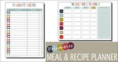 Image result for meal planner template