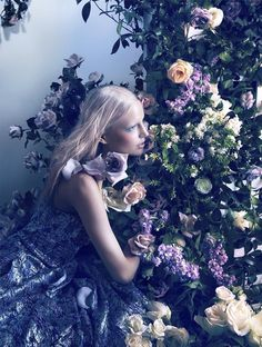 ❀ Flower Maiden Fantasy ❀ beautiful photography of women and flowers - Elisabeth Erm for Dior Magazine #5, Spring 2014